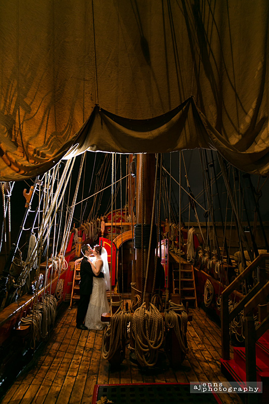 The wedding took place on the Nonsuch