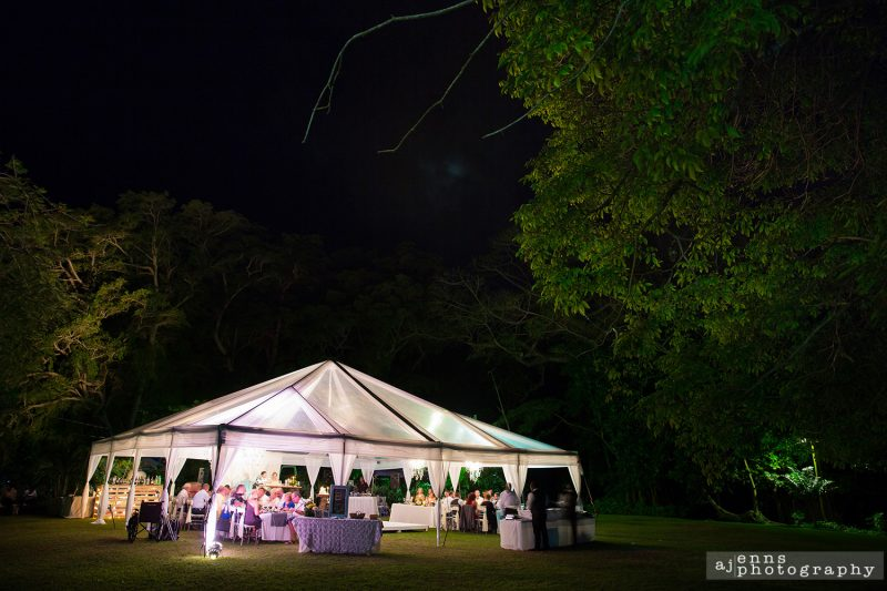 the wedding tent setup by White Lights Events Jamaica