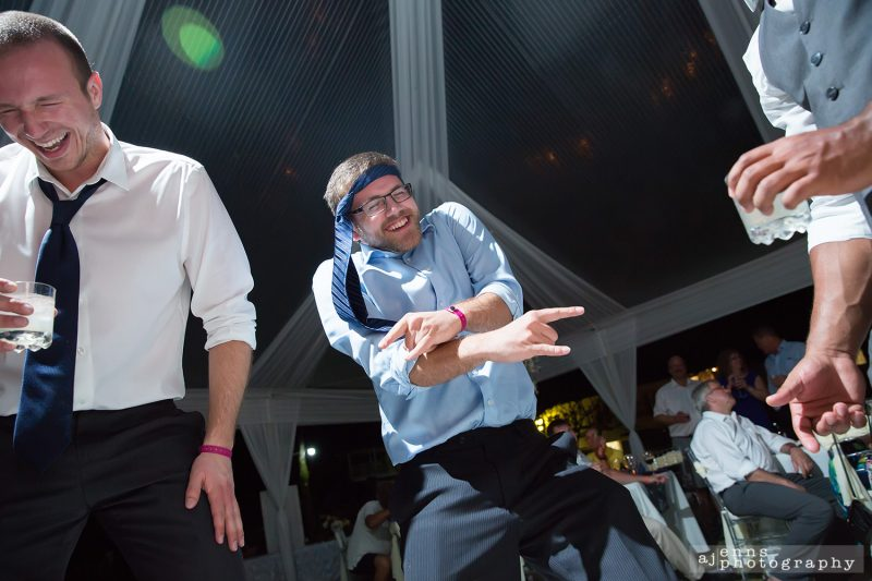 Dancing with a tie and getting jiggy with it!