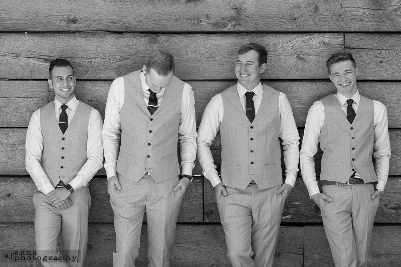 Always laughs with the boys and the groom