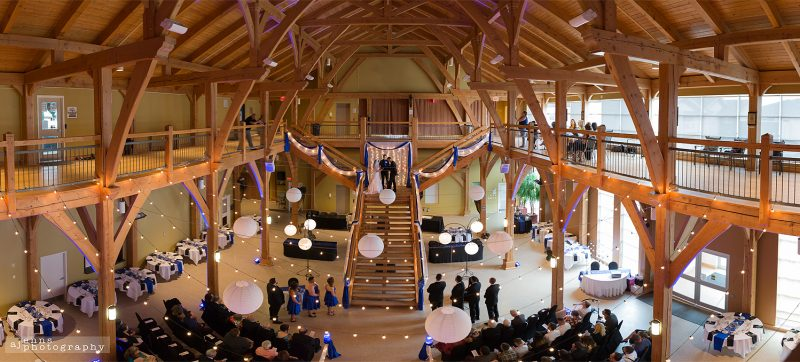A bird's eye view of the ceremony at the Heritage Centre